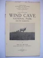 Wind Cave  Dakota 1927  National Park Guide  Carte Montagne Nature  Usa - Amérique Du Nord