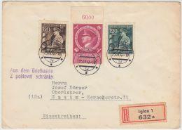 00994 Germany Grossdeutsches Reich 1944 Iglau Registered To Znaim - Böhmen Und Mähren