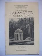 Lafayette 1921  National Park Guide Photos Carte Montagne Nature  Usa - Amérique Du Nord