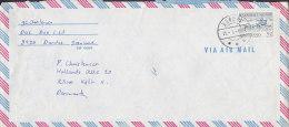 Greenland Airmail Par Avion DUNDAS 1972 Cover Brief To Denmark Attelage Du Chiens Dog Sledge (Cz. Slania) - Grönland