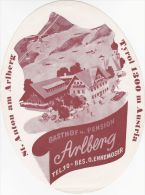 ENNEMOSER ARLBERG TYROL TIROL AUSTRIA VINTAGE LUGGAGE LABEL (B006) - Hotel Labels