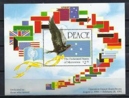 BANDERAS - MICRONESIA 1991 - Yvert #H9 - MNH ** - Sellos