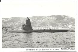 MORSE Sous-marin Photo Marius Bar 24-8-1960 - Submarinos