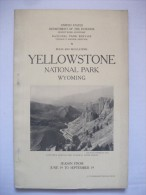 Yellowstone Wyoming 1927  National Park Guide Photos Carte Montagne  Usa - Amérique Du Nord