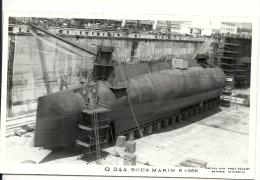 Q244 Sous-marin  Photo Marius Bar 6-1968 - Submarinos