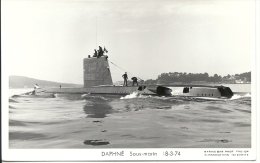 DAPHNE S641 Sous-marin Photo Marius Bar 18-3-1974 - Submarinos