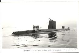 EURYDICE Sous-marin Photo Marius Bar 2-10-1963 - Submarinos
