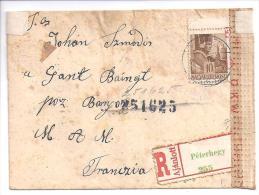 2 Lettres Avec Bandes De Censure En Provenance De Hongrie Et Egypte ( 4 Scans ) - Marcophilie (Lettres)