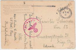 01013 Germany Deutsches Reich  Böhmen & Mähren Prag - Praha Dienstpost + Feldpost To Ostmark - Böhmen Und Mähren