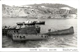 GALATEE S646 Sous-marin Photo Marius Bar 23-8-1970 - Submarinos