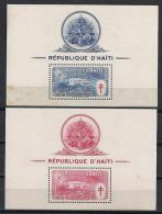 HAITI 1949 - Yvert #H4/5 - MNH ** Puntos De óxido En La Goma - Haïti