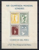 PERÚ 1948 - Yvert #H1 ** - Precio Cat. €130 - Peru