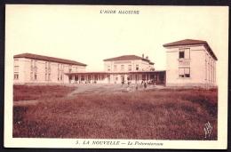 CPA ANCIENNE- FRANCE- LA NOUVELLE (11)- LE PREVENTORIUM EN TRES GROS PLAN AVEC ANIMATION- MONOCHROME SEPIA- - Francia
