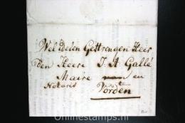 Nederland:complete Brief  Arnhem Naar Vorden , 1813, - Niederlande