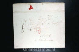 Nederland:complete Brief  Van Rotterdam Naar Aelst Aalst In Vlaanderen  , 1784, H Stempel En Waszegel - ...-1852 Préphilatélie