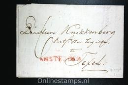 Nederland: Gekapt Dep Stempel Amsterdam Naar Texel 1813, Brief Van Domeinen - Nederland