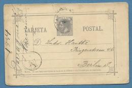 SPAGNA INTERO POSTALE TARJETA POSTAL 10 C. DA TARRAGONA A BERLINO  - 1884 - 1875-1882 Regno: Alfonso XII