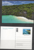 NEW CALEDONIA ,2013,  MNH, PRESTAMPED POSTCARD,LANDSCAPE, BEACH,TREES, HILLS, NICE! - Islands