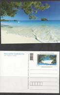 NEW CALEDONIA ,2013,  MNH, PRESTAMPED POSTCARD,LANDSCAPE, TROPICAL BEACH,TREES,SAND, NICE! - Islands