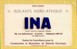 BUVARD   : Materiel Electrique Isolants Nord Afrique INA  ALGER - Electricité & Gaz