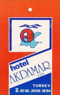 TURKEY VAN HOTEL AKDAMAR VINTAGE LUGGAGE TAG - Hotel Labels