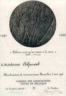 1946-47 Diplôme Reconnaissance Assoc. Juive De Bruxelles Juif Ww2 2WK (2 Documents) - Diploma's En Schoolrapporten