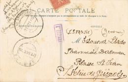5088. Postal Marseiile (Francia) A SAN FELIU De GUIXOLS (Gerona) 1915 - Covers & Documents