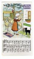 """Chromo SUCHARD, N° 164 / 7, Musique, Chanson, """"Il était Un' Bergère..."""" - Suchard"""