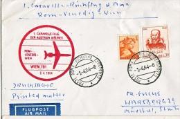 BRIEFMARKEN ERSTTAG Flugzeuge, ERSTFLUG DOUGLAS DC-9  CARAVELLE-FLUG ROM-VENEDIG-WIEN AUSTRIAN AIRLINES  1971 RETURN - Unclassified
