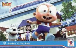 Thailand BTS Card  Ticket   Comic  Pang Pond - Eisenbahnen