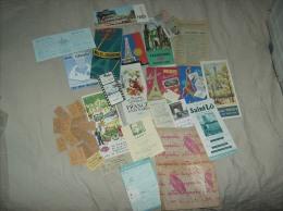 1950s Paris Ephemera, Guides, Tickets, Maps ++ - Europe