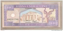 Somaliland - Banconota Non Circolata Da 10 Scellini - 1996 - Somalia