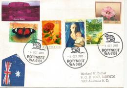 Australie. Belle Lettre De L'Ile Rottnest, 18 Km Au Large De Fremantle (Western-Australia),adressée à Darwin NT - Postmark Collection