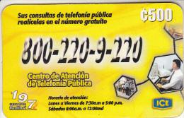 COSTA RICA - Advertising, ICE Tel Prepaid Card C 500, 07/02, Used - Costa Rica