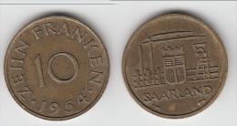 **** SARRE - SAARLAND - 10 FRANKEN 1954 **** EN ACHAT IMMEDIAT !!! - Saar
