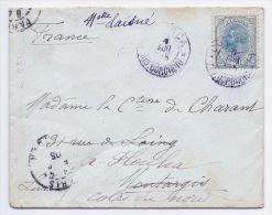 ROUMANIE - LETTRE 1905 POUR FRANCE BRETAGNE - 1881-1918: Charles I