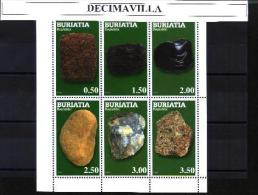 BURI,  MINERALES(2), 6 VAL, CINDERELLAS - Minerals & Fossils