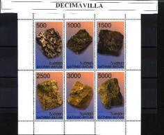 BAT, MINERALES, 6 VAL, - Minéraux & Fossiles
