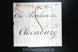 Nederland: Brief Met Departement Stempel  Amsterdam Naar Oldenburg 1820 - Niederlande