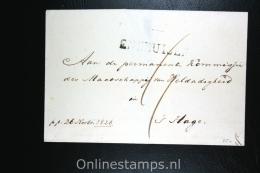 Nederland: Cover Gekapt Departement Stempel Enkhuizen Naar Den Haag 1826 - Niederlande