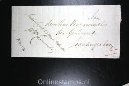 Nederland: Militaire Circulaire 1828, Naamstempel Hoorn Naar De Burgemeester Van  Barsingerhorn - Nederland