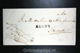 Nederland: Cover1820, Naamstempel Hoorn Naar De Beemster - ...-1852 Vorläufer