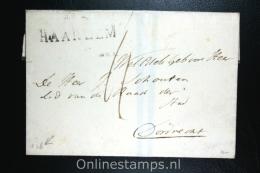 Nederland: Cover Gekapt Departement Stempel Haarlem Naar Dordrecht 1826 - Niederlande