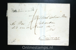 Nederland: Cover Gekapt Departement Stempel Haarlem Naar Dordrecht 1826 - Nederland