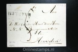 Nederland: Cover Gekapt Departement Stempel Haarlem Naar Heusden 1826 - Nederland