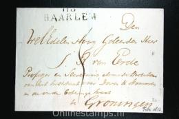 Nederland: Cover Departements Stempel Haarlem  Naar Groningen  1813 - ...-1852 Voorlopers