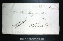 Nederland: Brief Naamstempel Haarlem Gouvernement Noordholland, Naar Nibbixwoud (e),1815 - ...-1852 Vorläufer
