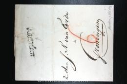 Nederland: Cover Naamstempel Haarlem Cursief  1809 Naar Groningen - Nederland