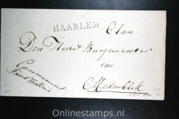 Nederland: Cover Naamstempel Haarlem Naar Medemblik, 1814, Mooie Afdruk - Niederlande