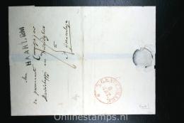 Nederland: Cover Naamstempel Haarlem Naar Den Haag , 1829 Aankomsstempel - Niederlande